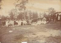 Picnic at Camden. Albert Victor Magrath is baby in arms 11th from left
